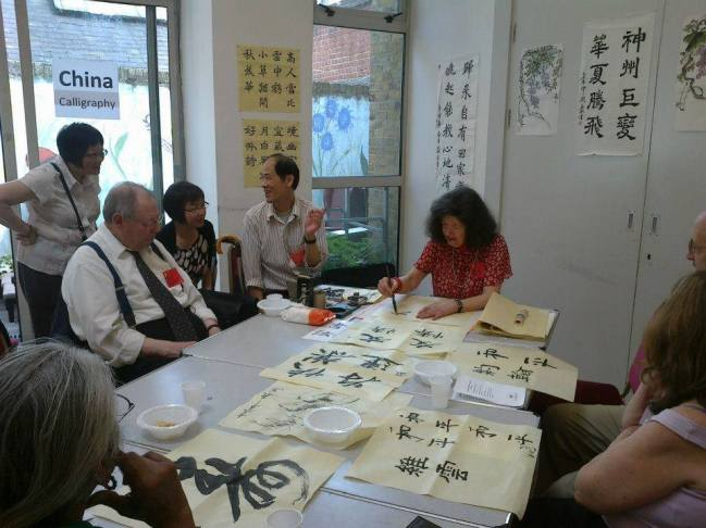 Olympic World Festival Chinese Calligraphy Workshop 120816