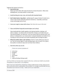 Suggested tips against coronavirus20200131